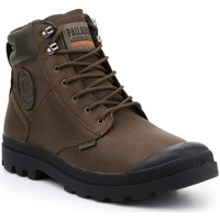 Shoes Hi top trainers Palladium Pampa Shield WP+ LTH 76844-383-M olive green