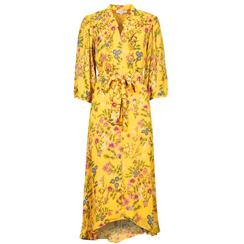 Clothing Women Long Dresses Derhy SEPIA Yellow