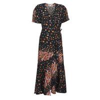 Clothing Women Long Dresses Derhy SUEDE Black / Multicolour
