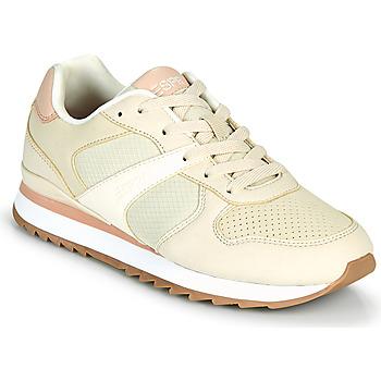 Shoes Women Low top trainers Esprit AMBRO Beige / Pink