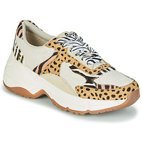 Shoes Women Low top trainers Gioseppo FORMIA White / Leopard