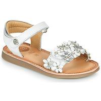Shoes Girl Sandals Gioseppo MAZARA White / Silver
