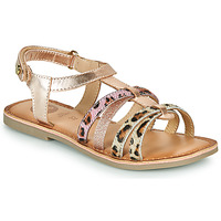 Shoes Girl Sandals Gioseppo PALMYRA Pink / Gold