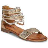Shoes Women Sandals IgI&CO BRONIA Gold / Cognac