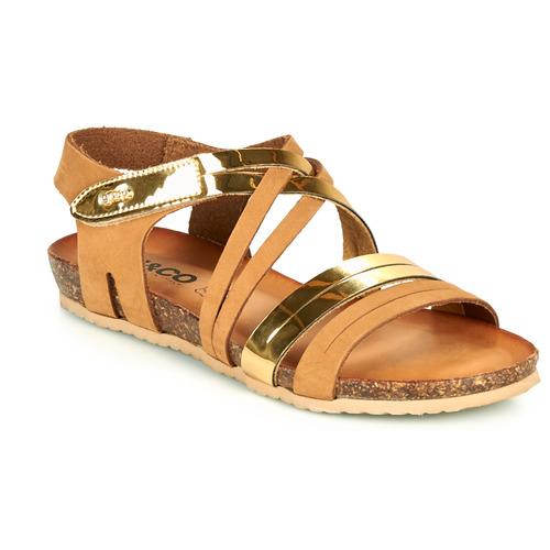 Shoes Women Sandals IgI&CO DREZZINA Cognac / Gold