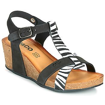 Shoes Women Sandals IgI&CO JOULIA Black / White