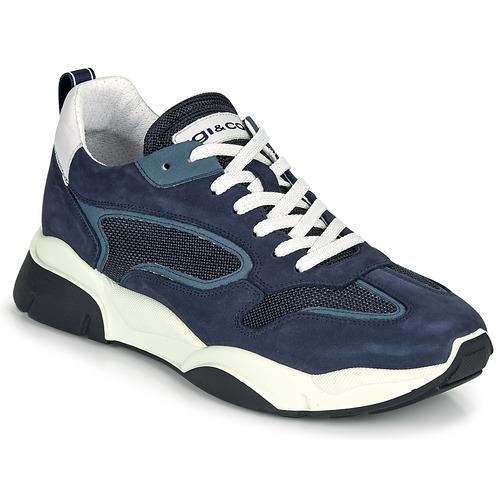Shoes Men Low top trainers IgI&CO COQUELIA Blue