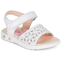 Shoes Girl Sandals Pablosky DROSSI White / Pink