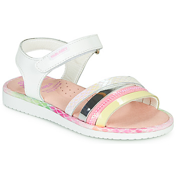 Shoes Girl Sandals Pablosky MOUNNA White / Pink