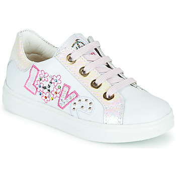Shoes Girl Low top trainers Pablosky AMME White / Pink