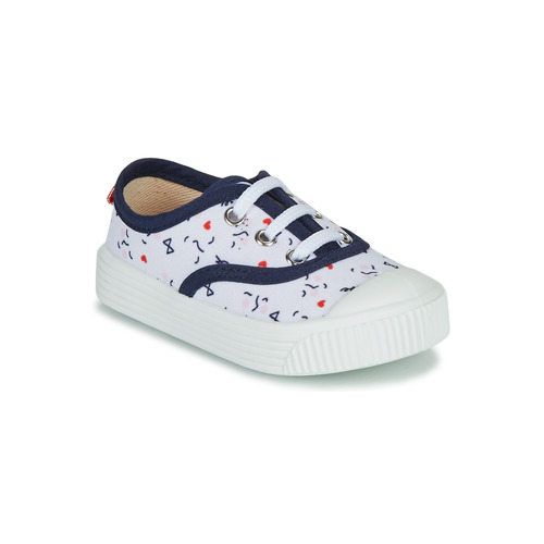 Shoes Children Low top trainers Citrouille et Compagnie MY LOVELY TRAINERS White / Printed