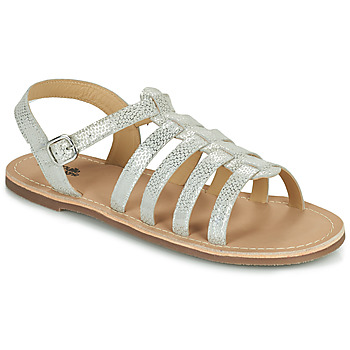 Shoes Girl Sandals Citrouille et Compagnie MAYANA White / Silver