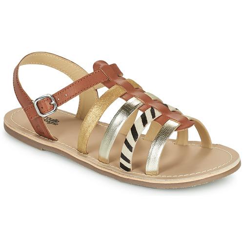 Shoes Girl Sandals Citrouille et Compagnie MAYANA Tan
