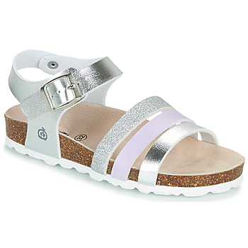 Shoes Girl Sandals Citrouille et Compagnie OMAYA Silver