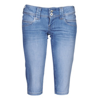 Clothing Women Cropped trousers Pepe jeans VENUS CROP Blue