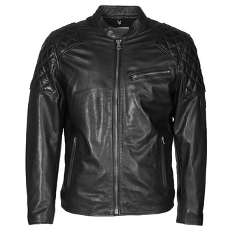 Clothing Men Leather jackets / Imitation leather Pepe jeans DONNIE Black