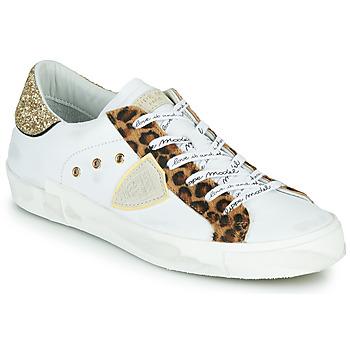 Shoes Women Low top trainers Philippe Model PARIS White / Leopard