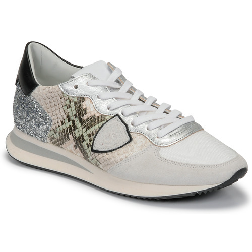 Shoes Women Low top trainers Philippe Model TROPEZ X White / Grey