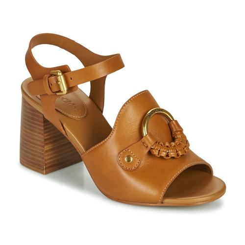 Shoes Women Sandals See by Chloé HANA SB3406 Cognac