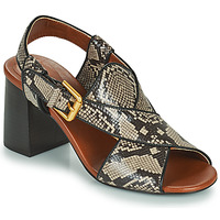 Shoes Women Sandals See by Chloé HELLA Beige / Grey