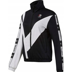 Clothing Women Track tops Reebok Sport CL Tracktop White,Black