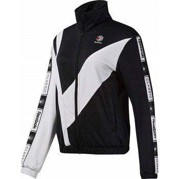 Clothing Women Track tops Reebok Sport CL Tracktop White, Black