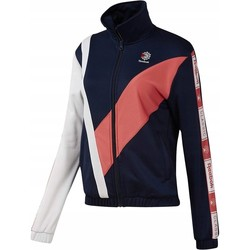Clothing Women Track tops Reebok Sport CL Tracktop White,Navy blue,Pink