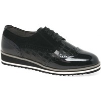 Shoes Women Derby Shoes Caprice Jazmyn Womens Casual Brogue Shoes black