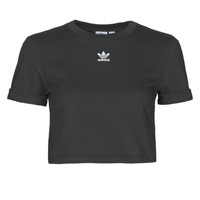 Clothing Women Short-sleeved t-shirts adidas Originals CROP TOP Black