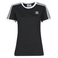 Clothing Women Short-sleeved t-shirts adidas Originals 3 STRIPES TEE Black
