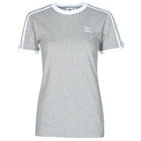 Clothing Women Short-sleeved t-shirts adidas Originals 3 STRIPES TEE Grey