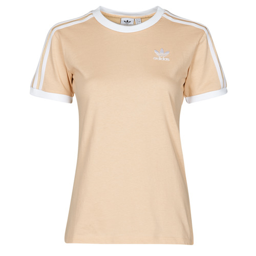 Clothing Women Short-sleeved t-shirts adidas Originals 3 STRIPES TEE Orange