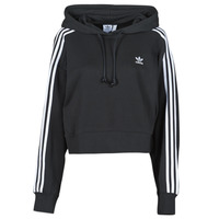 Clothing Women Sweaters adidas Originals SHORT HOODIE Black