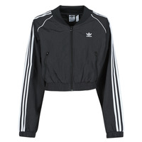 Clothing Women Track tops adidas Originals SHORT TRACKTOP Black