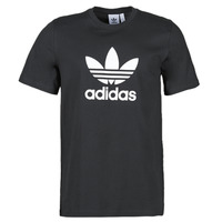 Clothing Men Short-sleeved t-shirts adidas Originals TREFOIL T-SHIRT Black