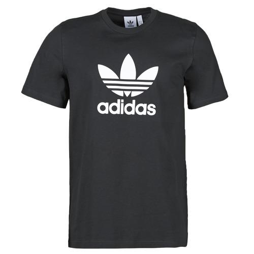 Clothing Men Short-sleeved t-shirts adidas Originals TREFOIL T-SHIRT Black