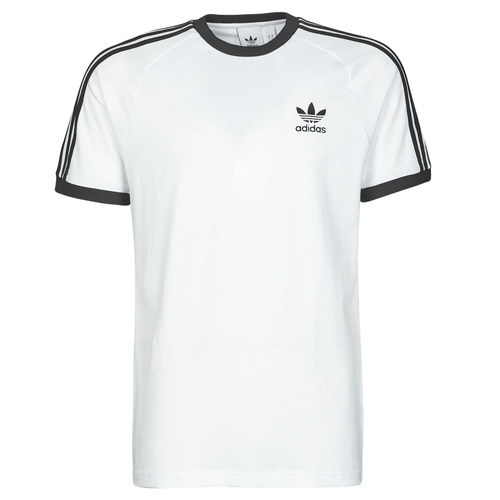 Clothing Men Short-sleeved t-shirts adidas Originals 3-STRIPES TEE White