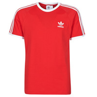 Clothing Men Short-sleeved t-shirts adidas Originals 3-STRIPES TEE Red