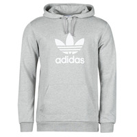 Clothing Men Sweaters adidas Originals TREFOIL HOODIE Grey