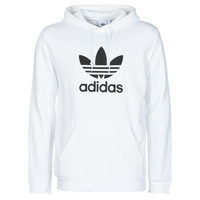 Clothing Men Sweaters adidas Originals TREFOIL HOODIE White
