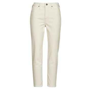Clothing Women Straight jeans Lee CAROL Ecru