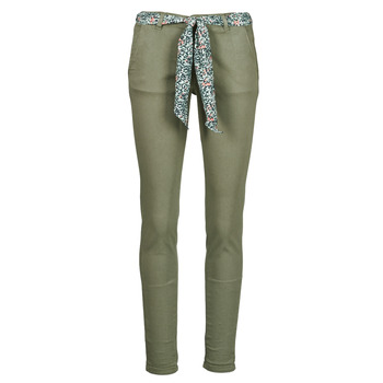 Clothing Women Chinos Le Temps des Cerises LIDY Kaki
