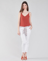 Clothing Women Chinos Le Temps des Cerises LIDY White