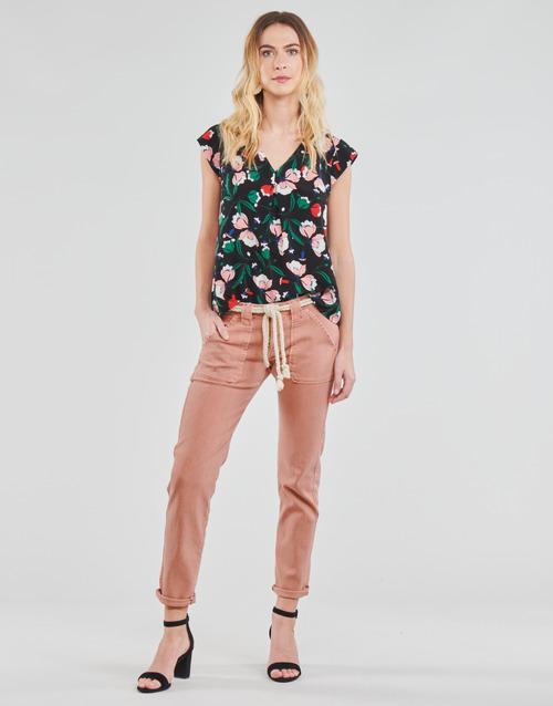 Clothing Women 5-pocket trousers Le Temps des Cerises EZRA Brown