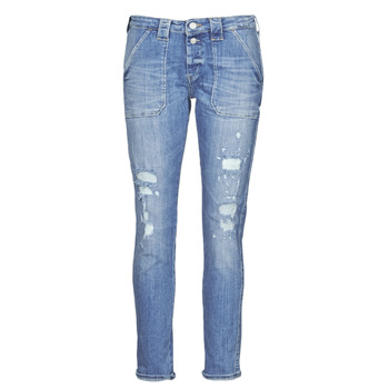 Clothing Women Boyfriend jeans Le Temps des Cerises CARA Blue