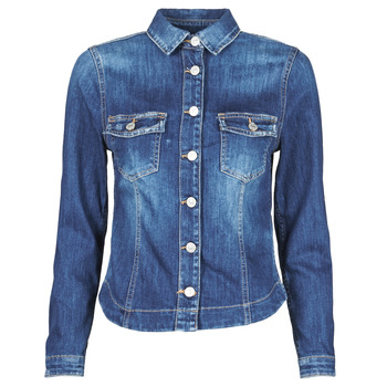 Clothing Women Denim jackets Le Temps des Cerises LILLY Blue