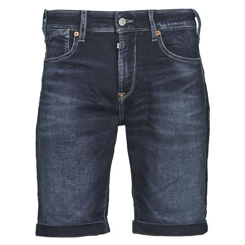 Clothing Men Shorts / Bermudas Le Temps des Cerises JOGG BERMUDA Blue / Black