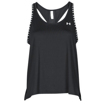 Clothing Women Tops / Sleeveless T-shirts Under Armour UA KNOCKOUT TANK Black