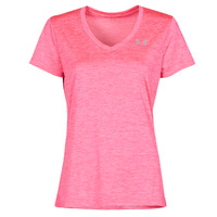 Clothing Women Short-sleeved t-shirts Under Armour TECH SSV Pink