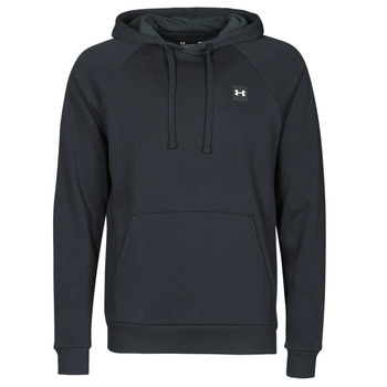 Clothing Men Sweaters Under Armour UA RIVAL FLEECE HOODIE Black